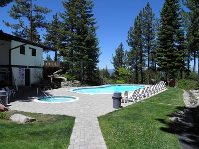 "Photo for 3397 Pine Hill Heavenly Ski Cabin with common summer pool and hot tub. Foos Ball table and 50"" HDTV"