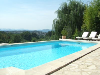 Photo for Stone Farmhouse with Pool & Large Garden - Breathtaking 80km Mountain Views