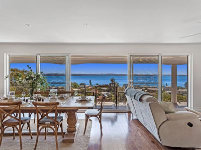 Photo for A spacious, stylish home with panoramic waterviews.
