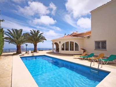 Photo for Saona Villas: Costa Blanca, Calpe, villa for 8 with private pool and sea view