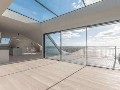 Photo for Unique luxury Penthouse with unrivalled sea views sleeps 4 and takes dogs.