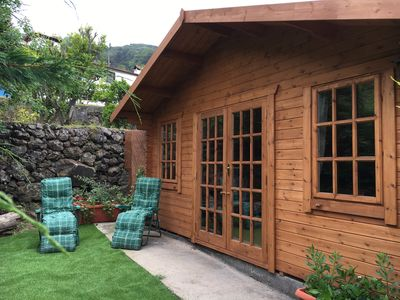 Photo for Beautiful Log Cabin on a tranquil Canarian finca surrounded by avocados & vines