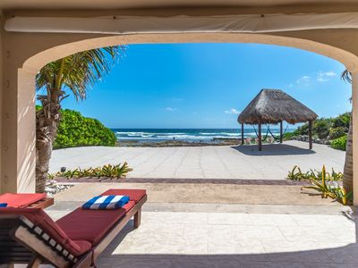 Beautiful 4 BR beachfront home with pool on Tankah Tres Beach close to Tulum!