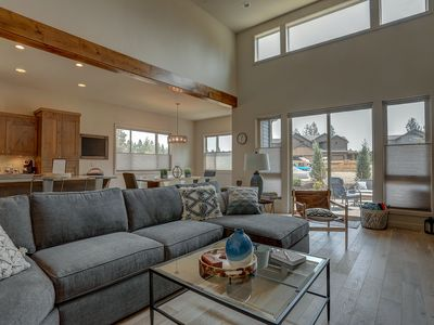 Photo for Mt. Bachelor Retreat - Hot Tub, Stunning & Modern, A/C, Close to Golf & Mt Bachelor