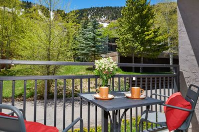 Anytime of year you will appreciate the outdoor space this condo offers with a perfect view of the mountain and ski trail right there!