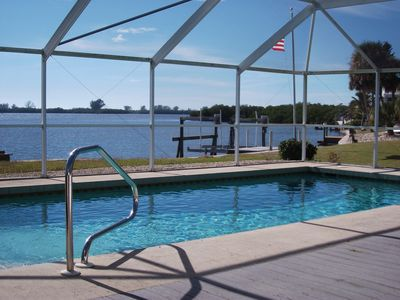 Photo for Enjoy the private pool & dock and amazing sunsets!