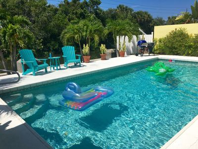 Photo for A GEM - Beach Cottage 4 BR - Heated Pool on Canal - Walk To Beach/Village