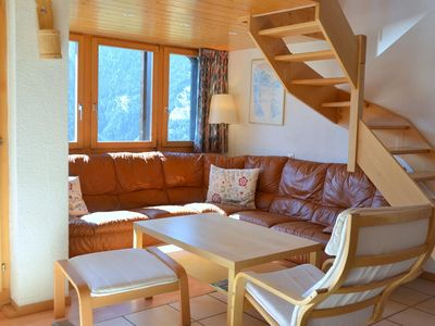Photo for Outside : 2-storey attic flat for 8 persons, balcony with garden furniture -Inside : 90 sqm, entranc