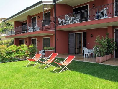 Photo for Lovely apartment for 4 guests with pool, WIFI, A/C, TV and parking
