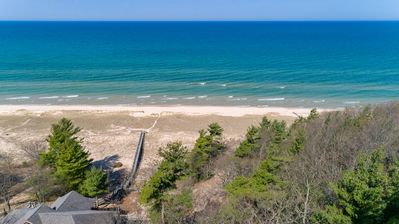 Photo for Timbershores: 3 BR Spacious cabin w/ Lake Michigan Access (Sleeps 6)