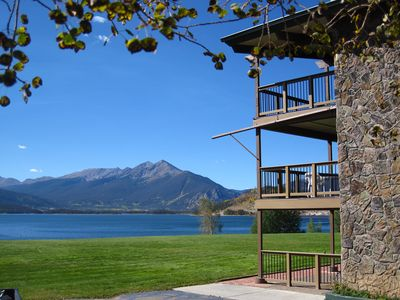 Photo for Lakefront-Ground Floor, Views, Patio. On Rec Path. Walk to Marina, Dining