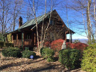Photo for Spectacular Long Range Views From This Charming Private Mountain Top Cabin