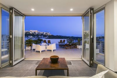 Large private Terrace overlooking Acropolis, Parthenon, Plaka, Filopappou, Monastiraki and the city of Athens