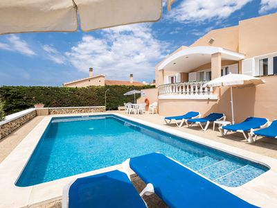Photo for 4 bedroom Villa, sleeps 8 in Torre Soli Nou with Pool, Air Con and WiFi