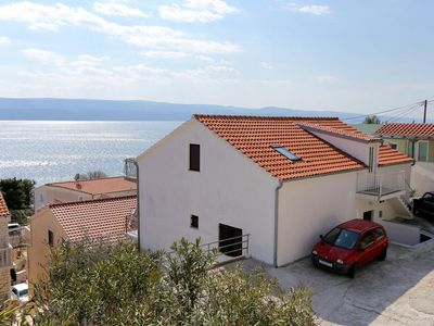 Photo for Three bedroom apartment with balcony and sea view Lokva Rogoznica, Omiš (A-10358-a)