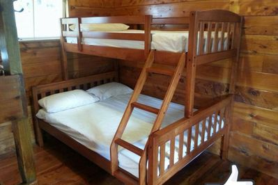Double Bed + Top bunk
