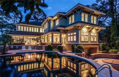 Photo for Spacious Sea Pines Home On Harbour Town Links w/ Private Pool & Spa