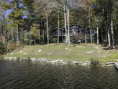 Photo for Peaceful Lakefront Retreat with Canoe and 2 Paddle Boards