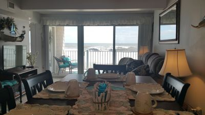 Photo for OCEANFRONT Condo W/ Private Beach, Heated Pool - Best View - 2 Bedroom 1 Bath