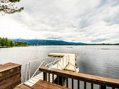 Photo for Waterfront, dog-friendly home w/ fireplace, chef's kitchen, & back patio