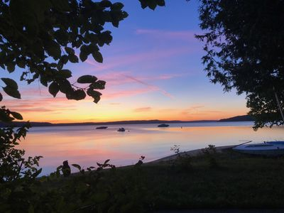 Photo for Beautiful sandy beach at west end of Crystal Lake