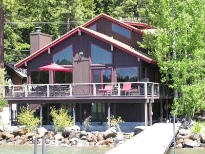 Photo for Large Tahoe Lakefront home with a pier, buoy and game room