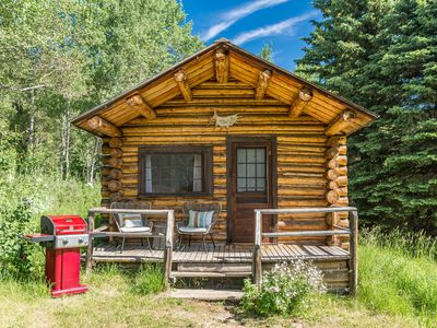 Photo for Cozy Log Cabin on Historic Trail Creek Ranch