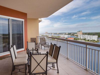 Photo for Upscale 4 Bedroom Amazing Gulf & Harbor Views From Oversized Balcony Boat slip included 25 to rent