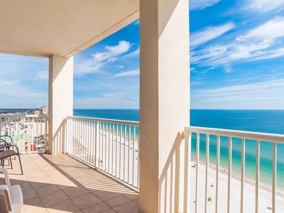 Photo for Beachfront Condo is Gulf Shores. Sitting on the Sand. Walking Distance to The Hangout!