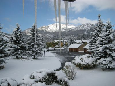 Winter View from Balcony of Mammoth Mountain