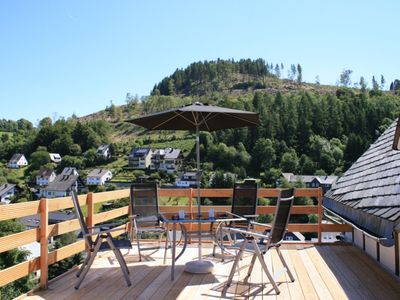 Photo for Apartment near Willingen with private roof terrace and great view