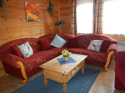 Photo for cozy wooden house - about 70sqm with fenced garden - dogs willk - WLAN incl