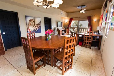Specious and elegant dining area, seating for 10, large living and entertainment