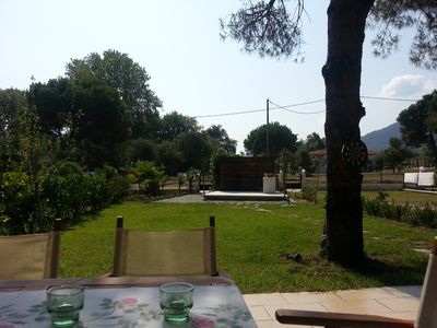 Photo for Sunny house with forest views only 200 steps from idyllic beaches Karidi