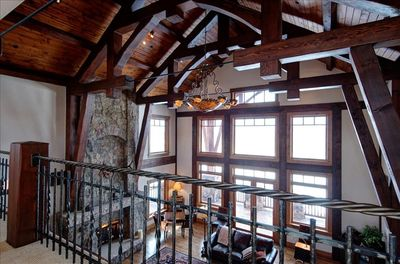 Impressive beam construction and ironwork. All top of the line work and quality.