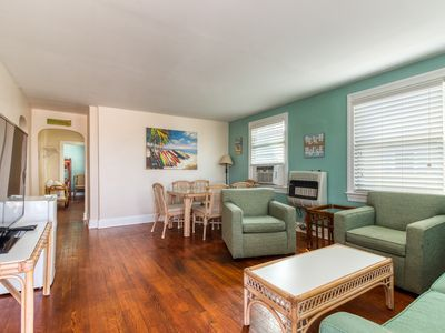 Photo for NEW LISTING! Dog-friendly condo w/ocean views & great location downtown!
