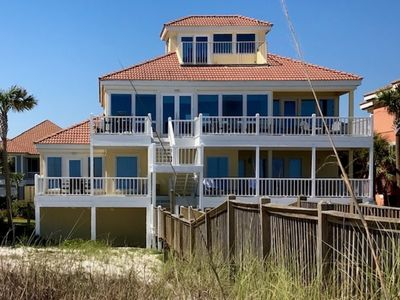 Photo for Beachfront home in quiet, private, gated area. Community pool and tennis.