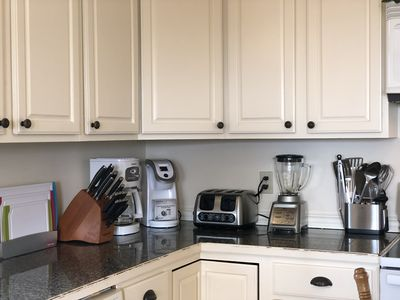 Stocked with all of the kitchen items that you may need throughout your stay!