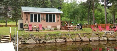 Photo for Dog friendly, fenced yard, sitting on the shore of Oxbow Lake