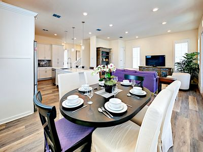 Dining Area - When you're ready to eat, enjoy your meal at the 6-person dining table.