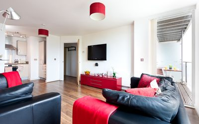 Photo for Apartment with Balcony and Free Parking at the Hub in Central Milton Keynes