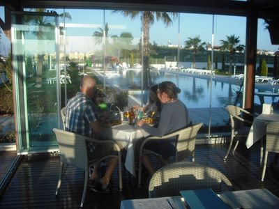 a VIEW FROM THE POOL SIDE RESTAURANT