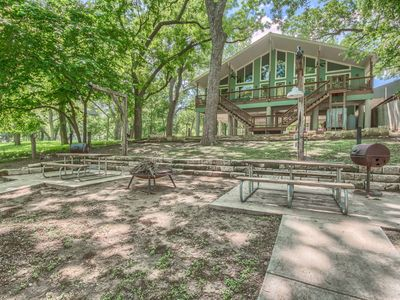 Photo for New Listing! Huge duplex with 65 feet of Guadalupe Riverfront, sleeps 20!!