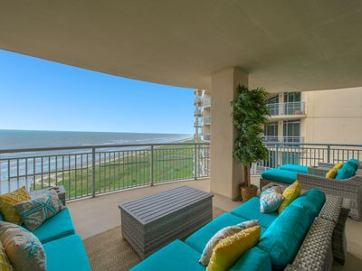 Photo for Galveston's Premier Property - Stunning Beach Front Condo with 2 huge balconies