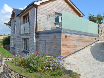 Photo for NEW LISTING Stunning new Cornish house with sea views, few minutes walk to beach