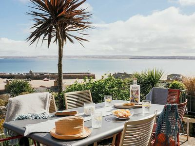 Photo for Boutique Townhouse with Stunning Sea Views, Garden & Central Location in St Ives