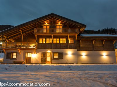 Photo for Stunning chalet, 350m2, private pool,100m from the piste and lift