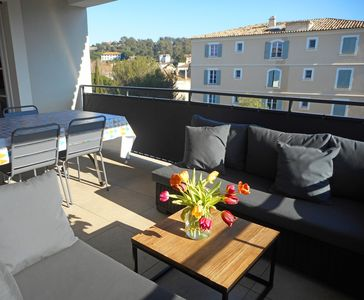 Photo for BEAUTIFUL NEW APARTMENT WITH TERRACE AND PARKING IN CITY CENTER