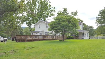Photo for New River Gorge Bridge rental 8 bedrooms, hot tub, and private pool 18' x 34'.