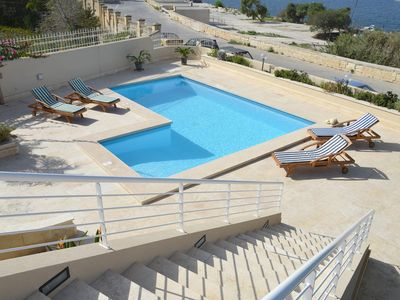 Photo for Private Seafront Villa with swimming pool and views.